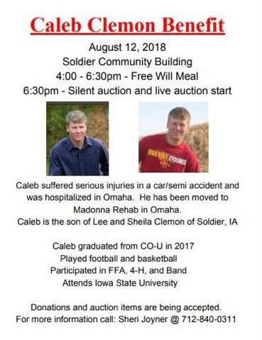 Caleb Clemon Benefit Auction and Free Will Meal